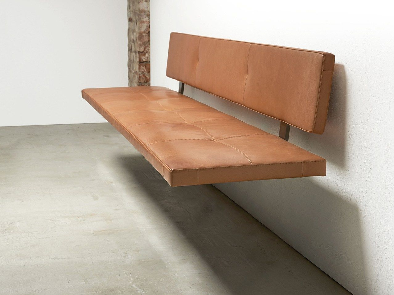 Lax Wall Mounted Bench Seating Lax Collection By More Design Gil Coste In 2020 Dining Bench With Back Leather Bench Wall Bench