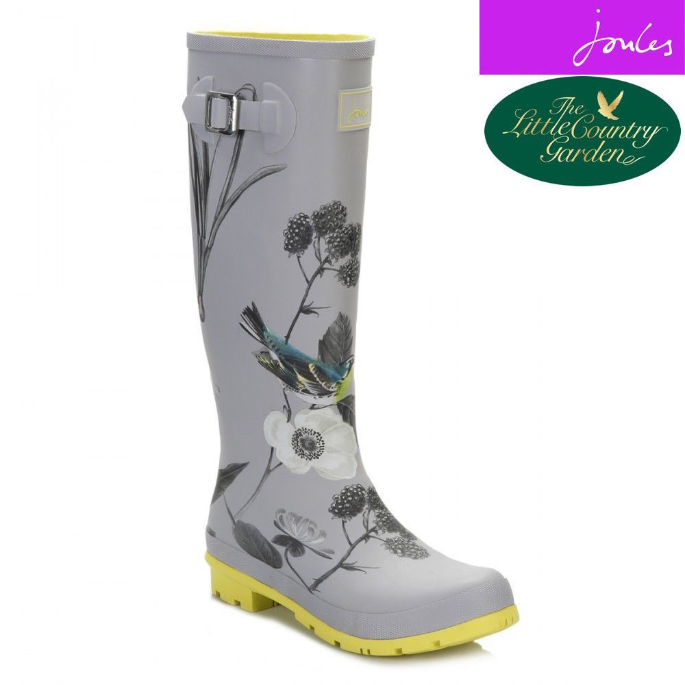 *new* Joules Silver Bird Size 6pleaseberry Wellies Wellington Boots 4 5 6 7  Rain