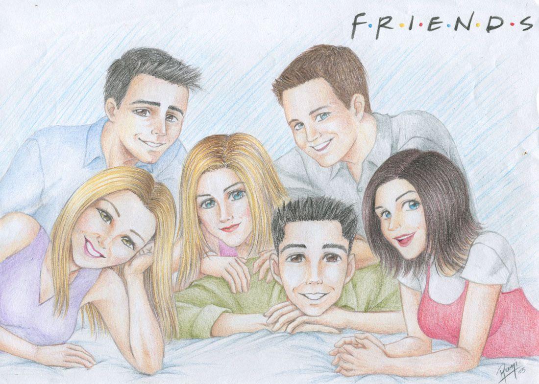Friends Fan Art Drawing Friend Cartoon Friends Funny Moments Drawings Of Friends