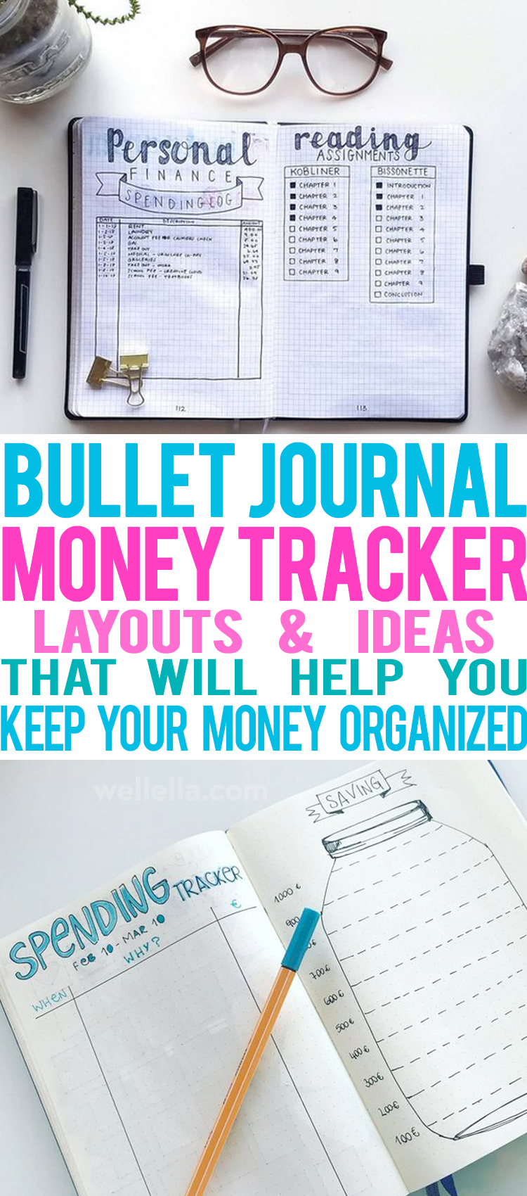 bullet journal money trackers that will help you keep your money