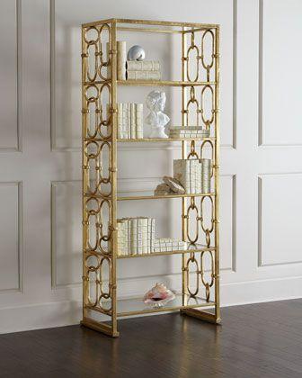 Bernhardt Golden Etagere Family Room Furniture Home Decor