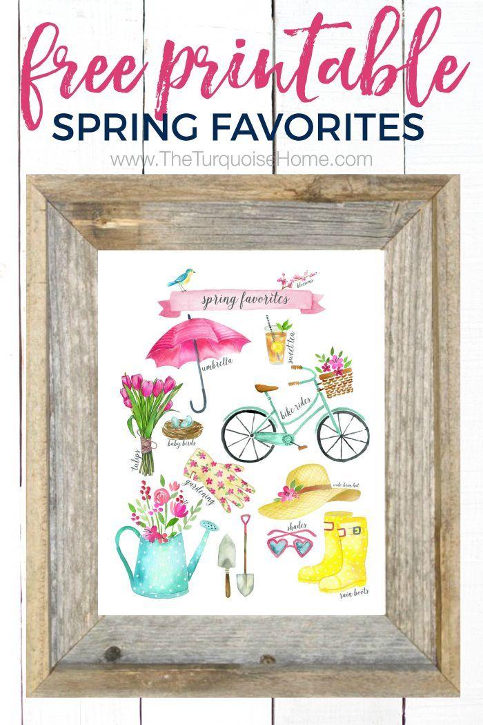 Spring Favorites Free Printable Vignettes, Free printable and Bird - fresh blueprint 3 free download