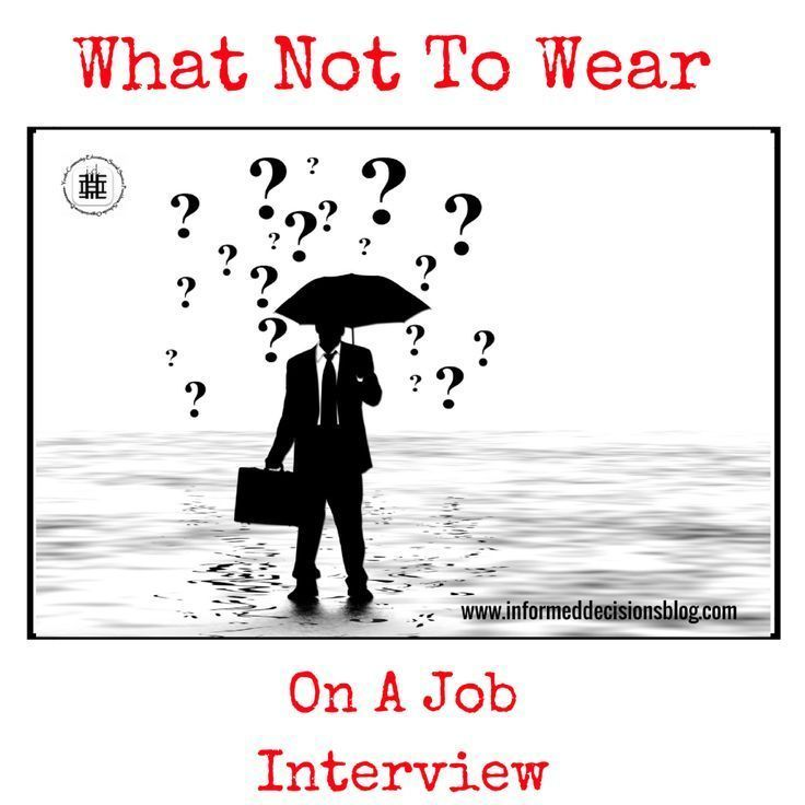 What Not To Wear\u2026 On A Job Interview Career Exploration for Teens