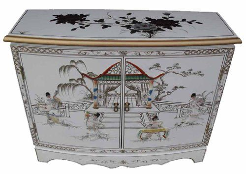 Chinese Oriental Furniture White Lacquer 2 Door Cabinet Https