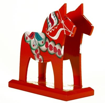 Dala Horse Napkin Holder  have one in red and one in blue
