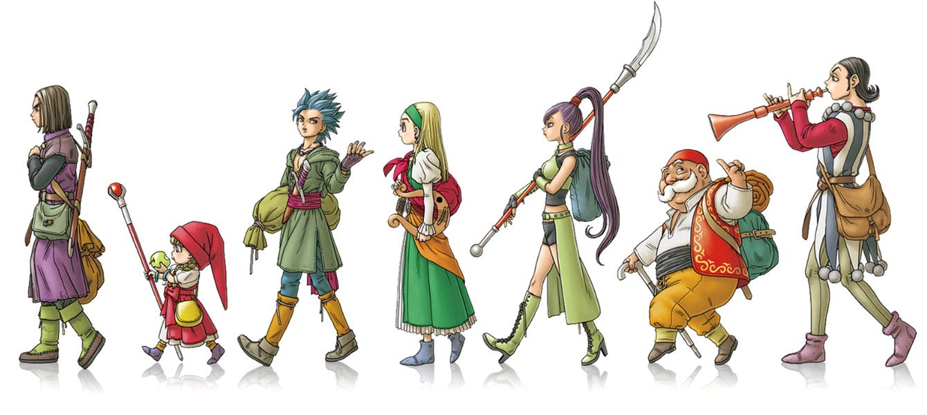 Characters From Dragon Quest Xi Echoes Of An Elusive Age Art Illustration Artwork Gaming Videogames Gamer Dragon Quest Dragon Quest Xi Dragon Quest 8