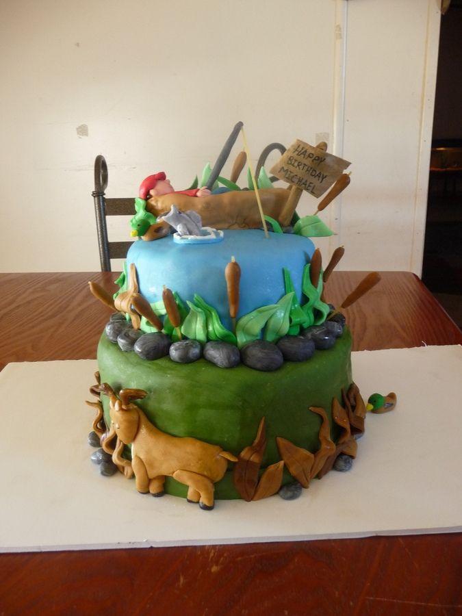 Awe Inspiring Baking Accs Cake Decorating Snoozing Fisherman Edible Fishing Funny Birthday Cards Online Eattedamsfinfo