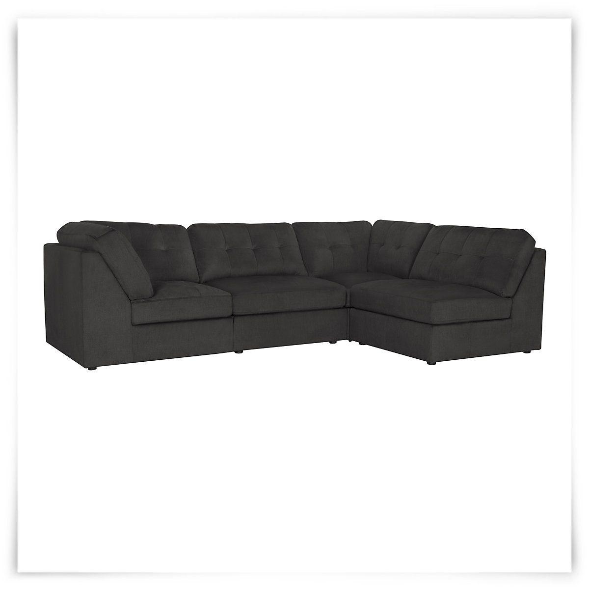 Super City Furniture Galaxy Dk Gray Fabric 4 Piece Modular Beatyapartments Chair Design Images Beatyapartmentscom
