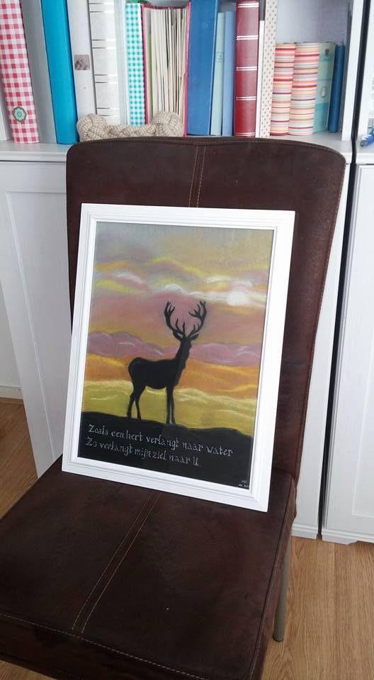 Hert met pastelkrijt, by Elise