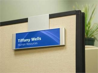 Hanging Name Plates For Cubicles With Custom Paper Inserts