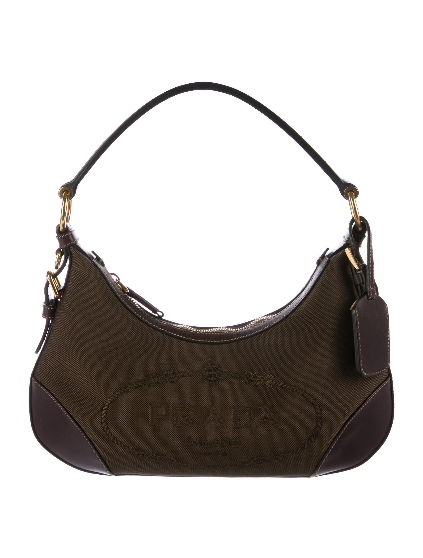 1f346a222dda ... low price prada logo canvas hobo handbags pra162975 the realreal  handbagsvintage 57951 7bd75 ...