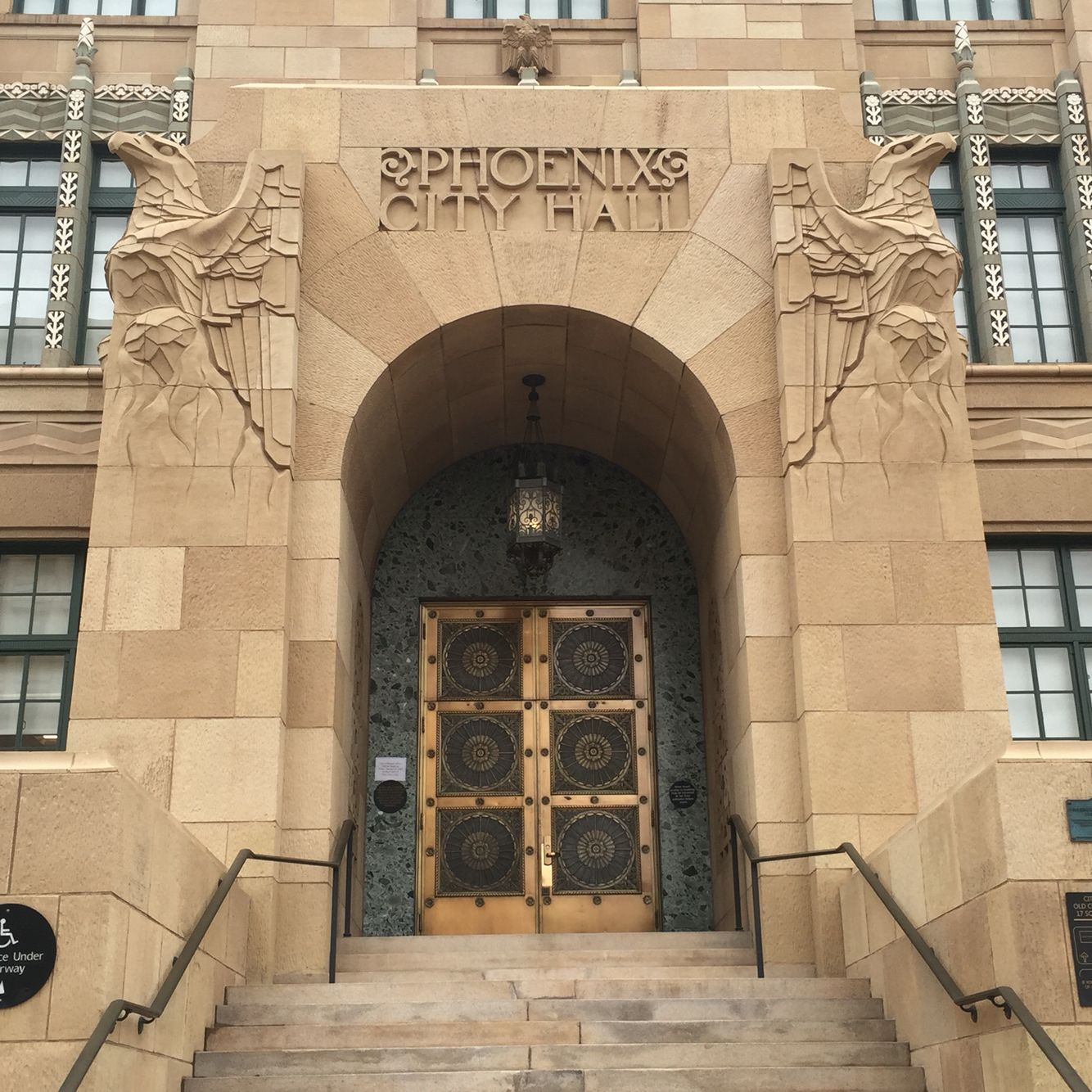 Gorgeous City Hall Door In Downtown Phoenix Az Check Out The West Tour At Courthouse Weddingdowntown