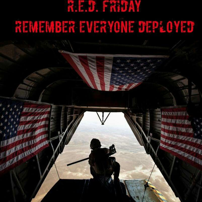 (1) RED Friday Remember Everyone Deployed image by Sharon
