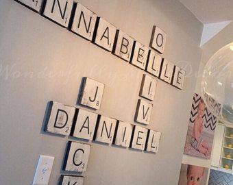 Scrabble Tile Wall Decor Handmade Large Scrabble Tilechristmaskateslittleshop On Etsy