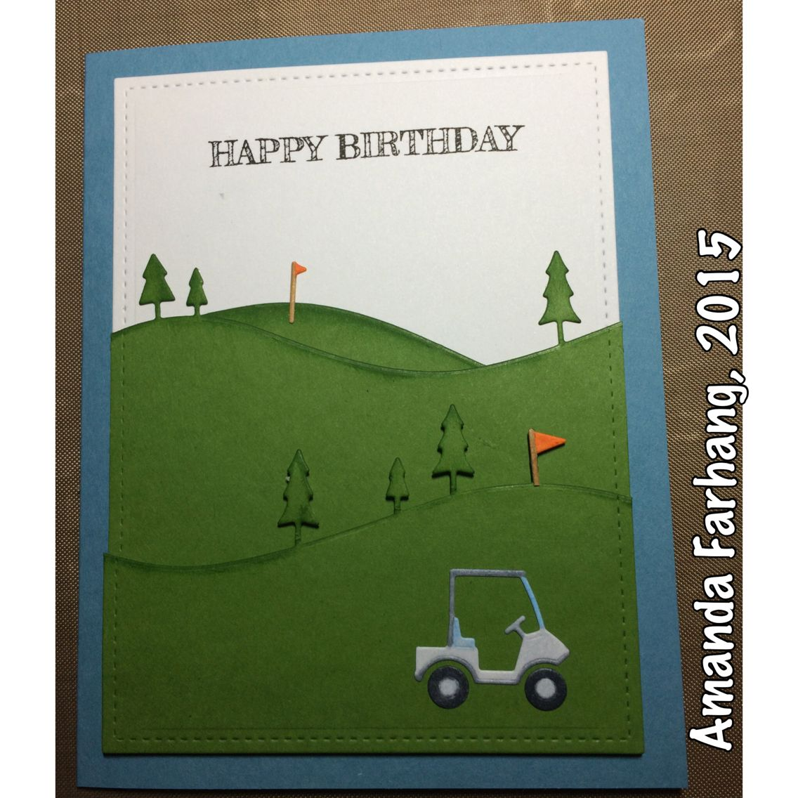 Made by Amanda Farhang. Memory Box golf cart die and ...