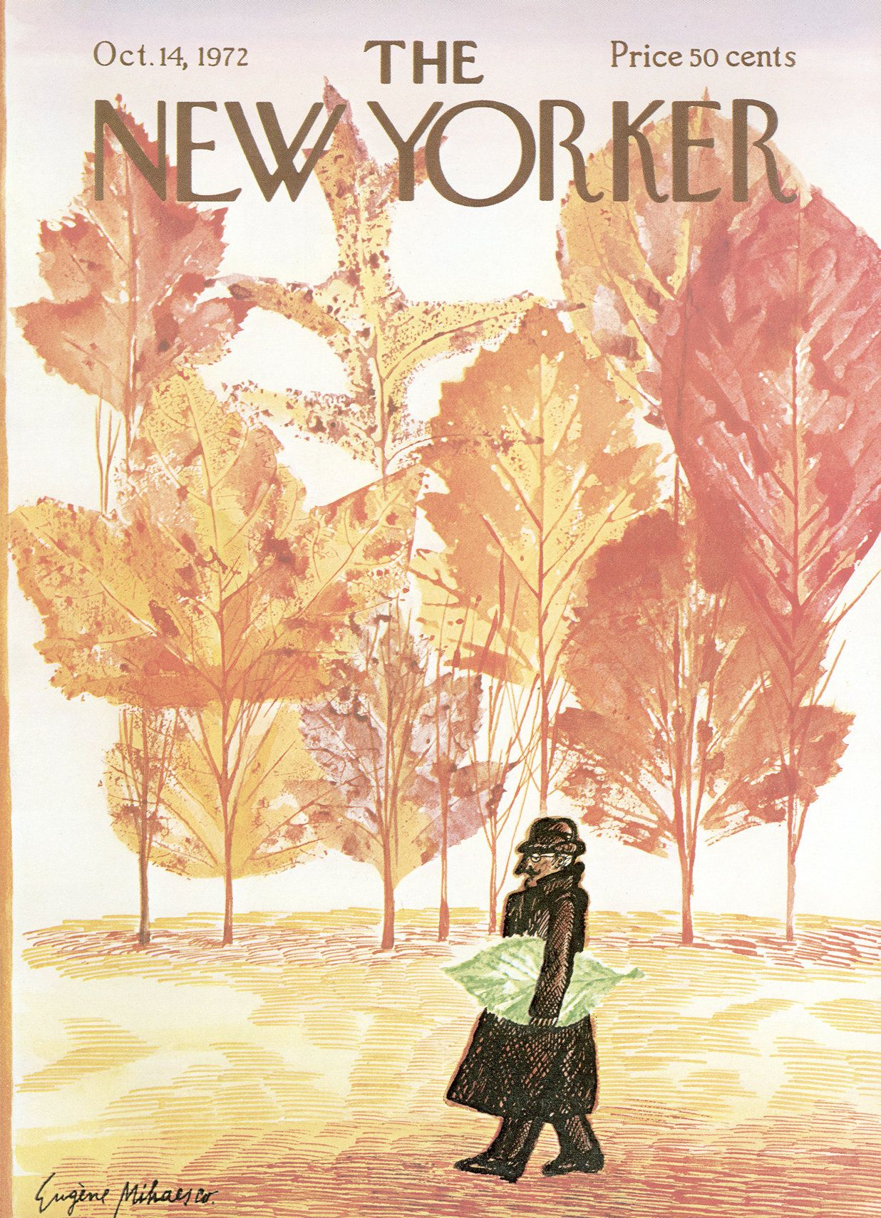 The New Yorker - Saturday, October 14, 1972 - Issue # 2487 - Vol. 48 - N° 34 - Cover by : Eugène Mihaesco