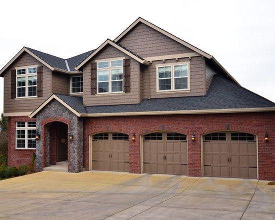 Dark Red Brick Homes Grey Stone Hummmm