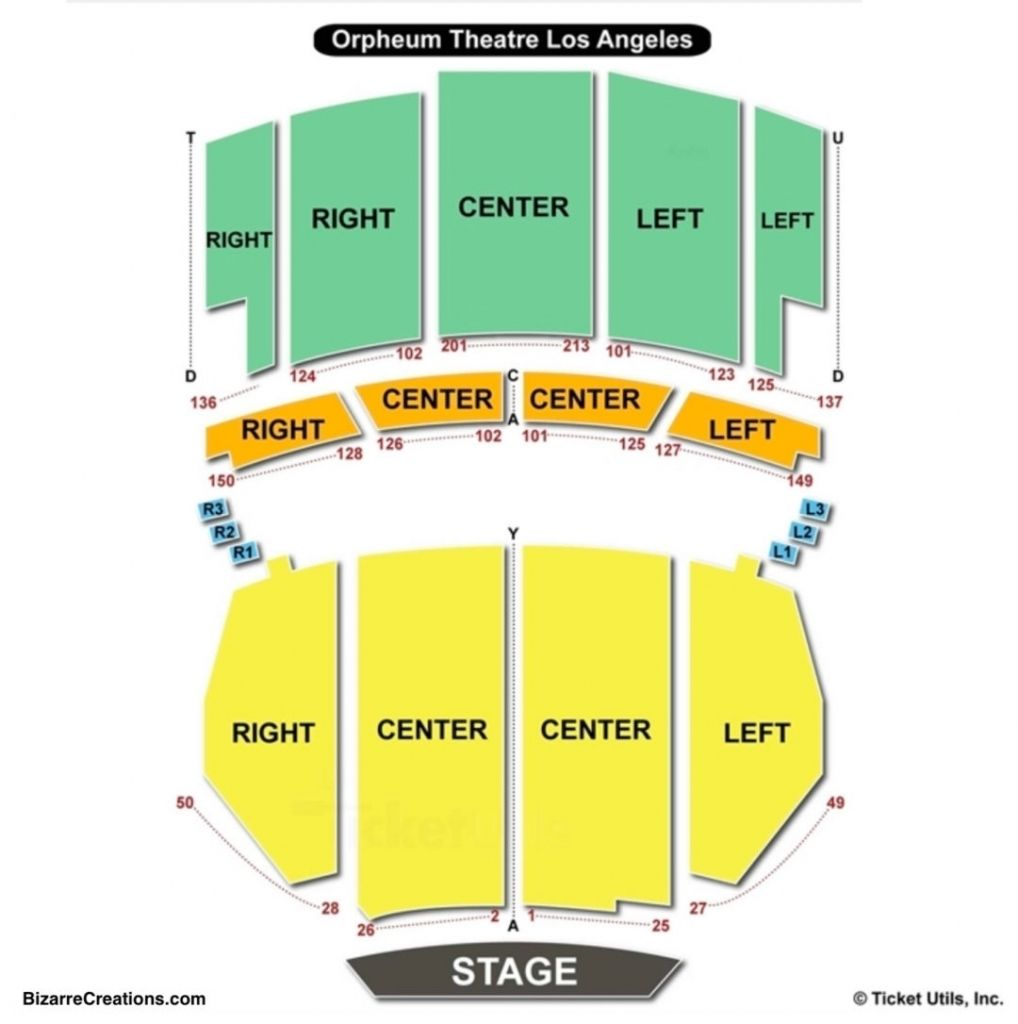 Orpheum Theatre Los Angeles Seating Chart Di 2020