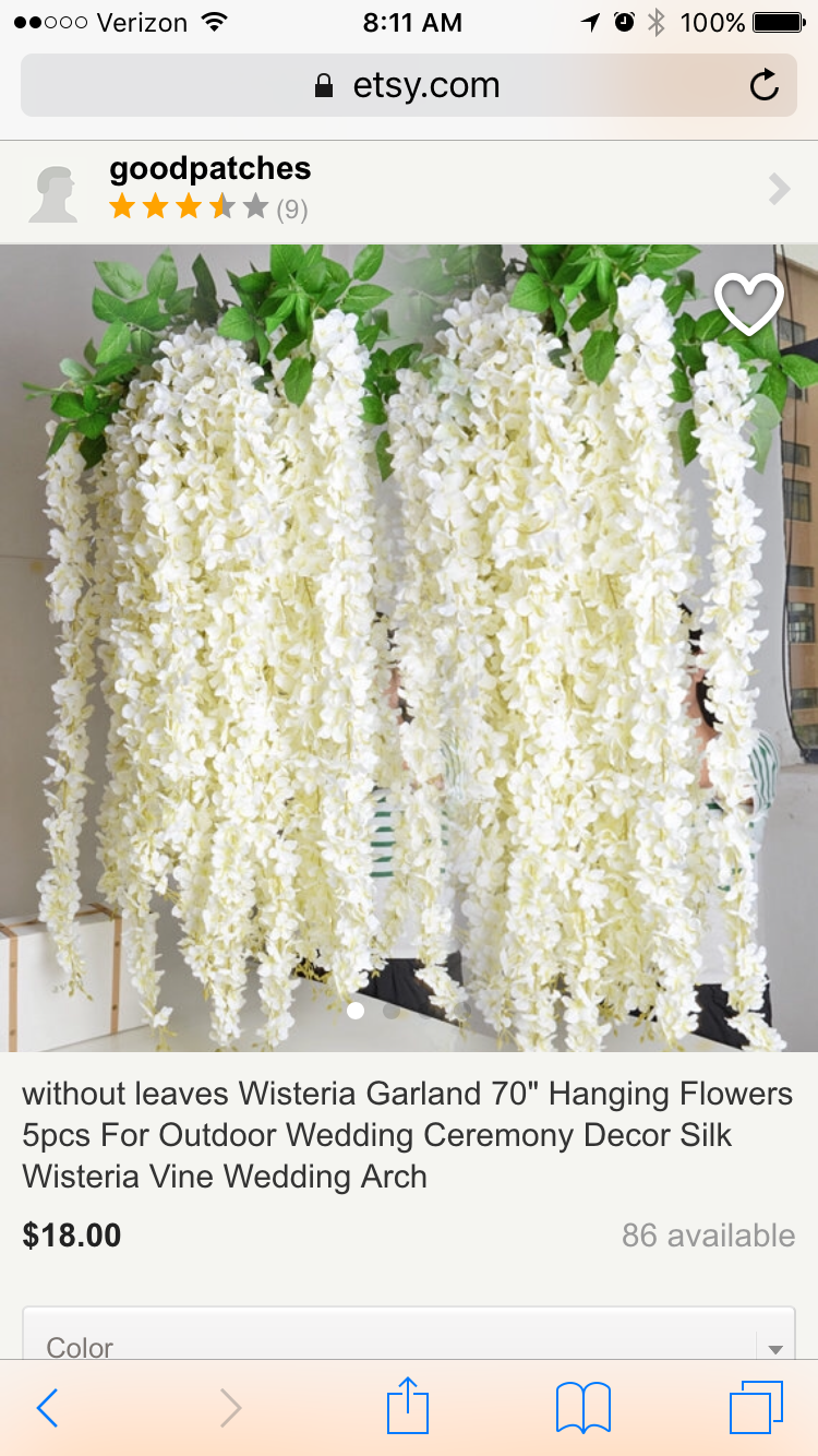 Pin by ly le on wedding pc pinterest wedding extra long white artificial silk hydrangea flower wisteria garland hanging ornament for garden home wedding decoration supplies from china decorative izmirmasajfo Images