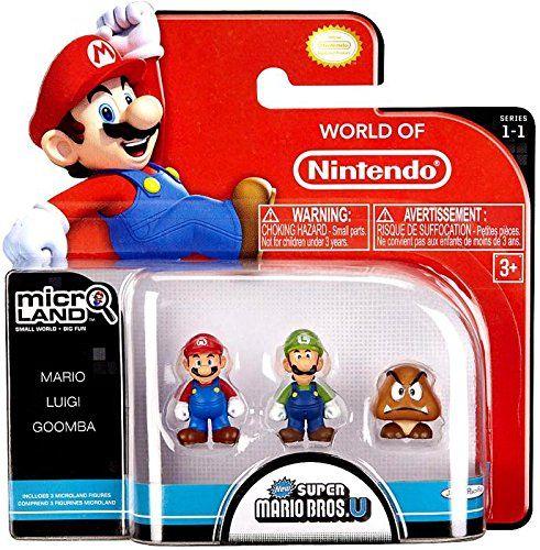 NINTENDO Mario Bros Universe Micro Wave 1: Mario, Luigi and Goomba Action Figure, 3-Pack Nintendo http://www.amazon.com/dp/B00F40KSCQ/ref=cm_sw_r_pi_dp_9rgsub1DYGH48