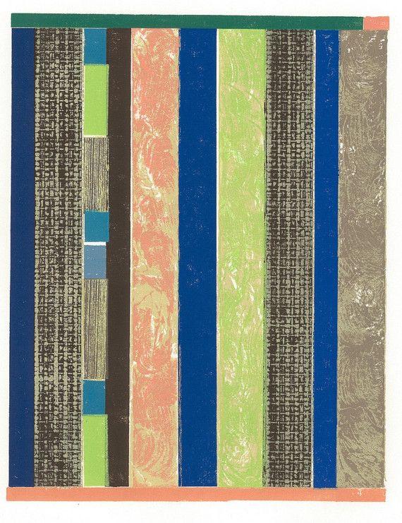 Block Print Cape Breton Quilt Collograph DANIEL'S by magprint