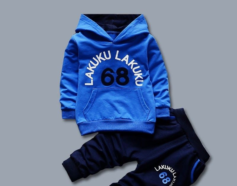 Discount Toddler Tracksuit Autumn Baby Clothing Sets Children Boys Girls Fashion Brand Clothes Kids Hooded T Shirt And Pants  Pcs Suits