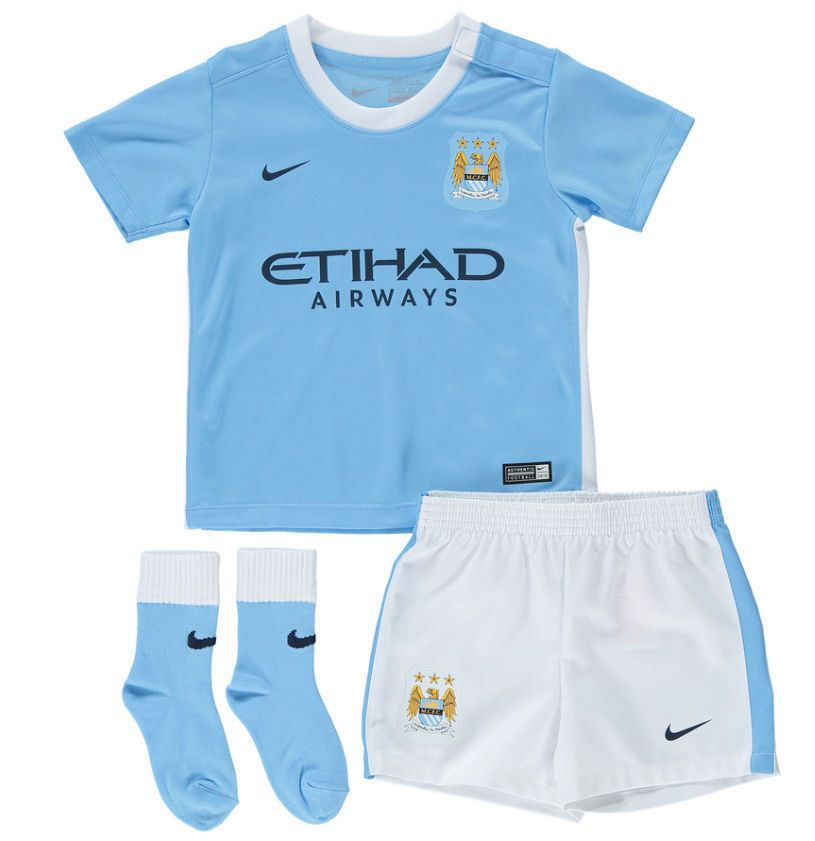 best sneakers 66eb9 8bce1 BABY NIKE MANCHESTER CITY FOOTBALL / SOCCER OUTFIT 2015 KIT ...