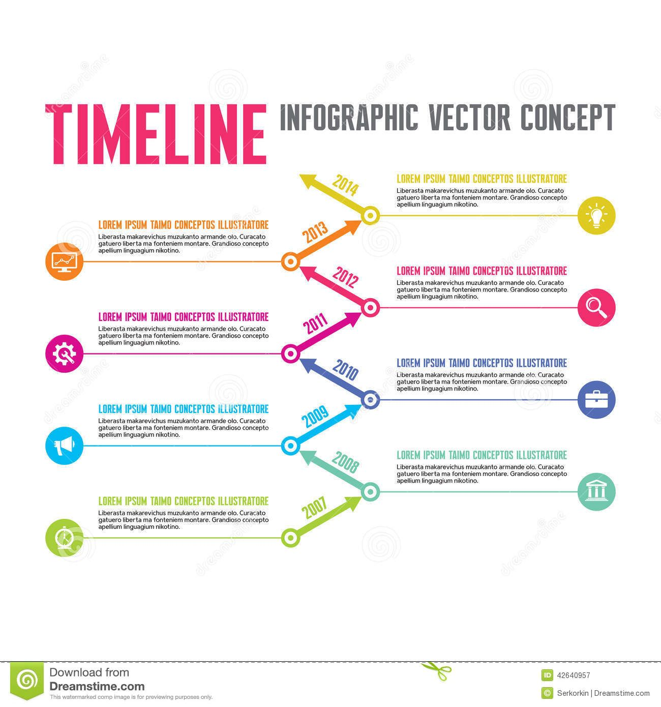 Infographic Vector Concept In Flat Design Style