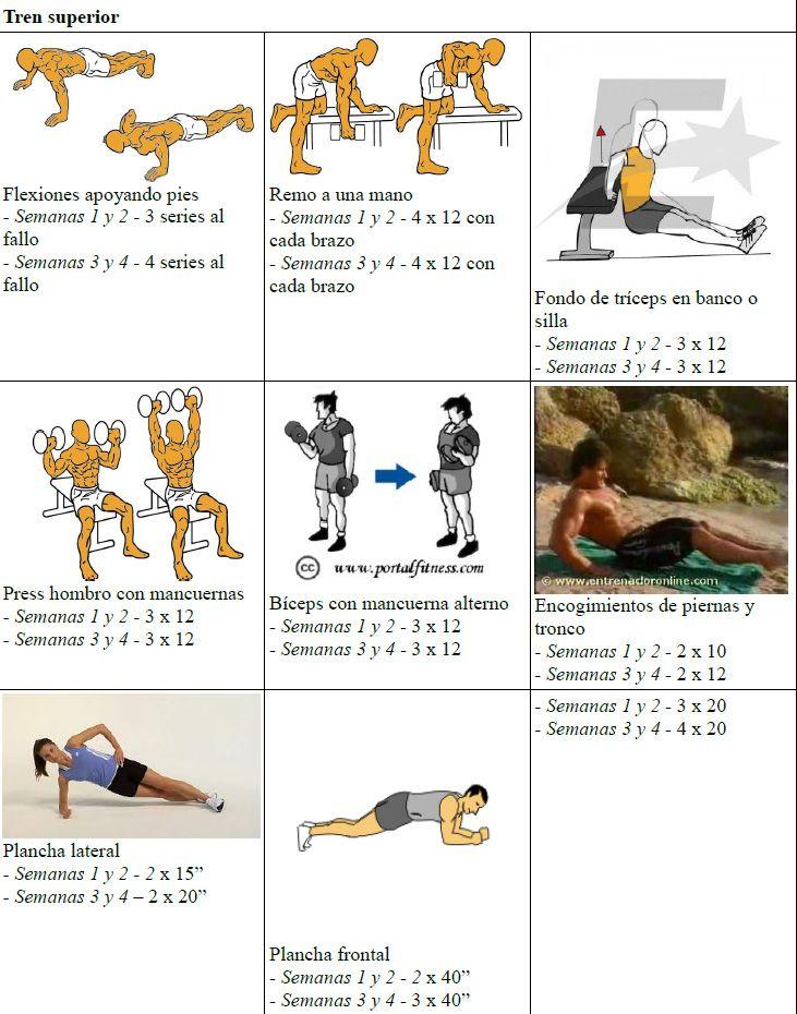 Plan de entrenamiento para chicas que se inician en fitness gym casa healthy life - Plan de entrenamiento en casa ...