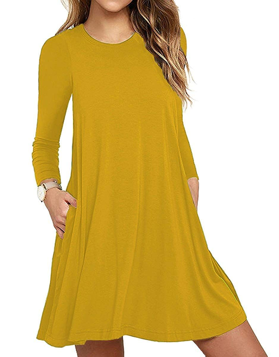 aa4641d11ac5 Casual Dresses - Unbranded  Women s Long Sleeve Pocket Casual Loose T-Shirt  Dress at