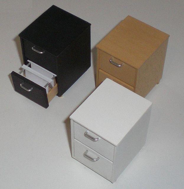 Miniature Filing Cabinets Dollhouse, Mini File Cabinet