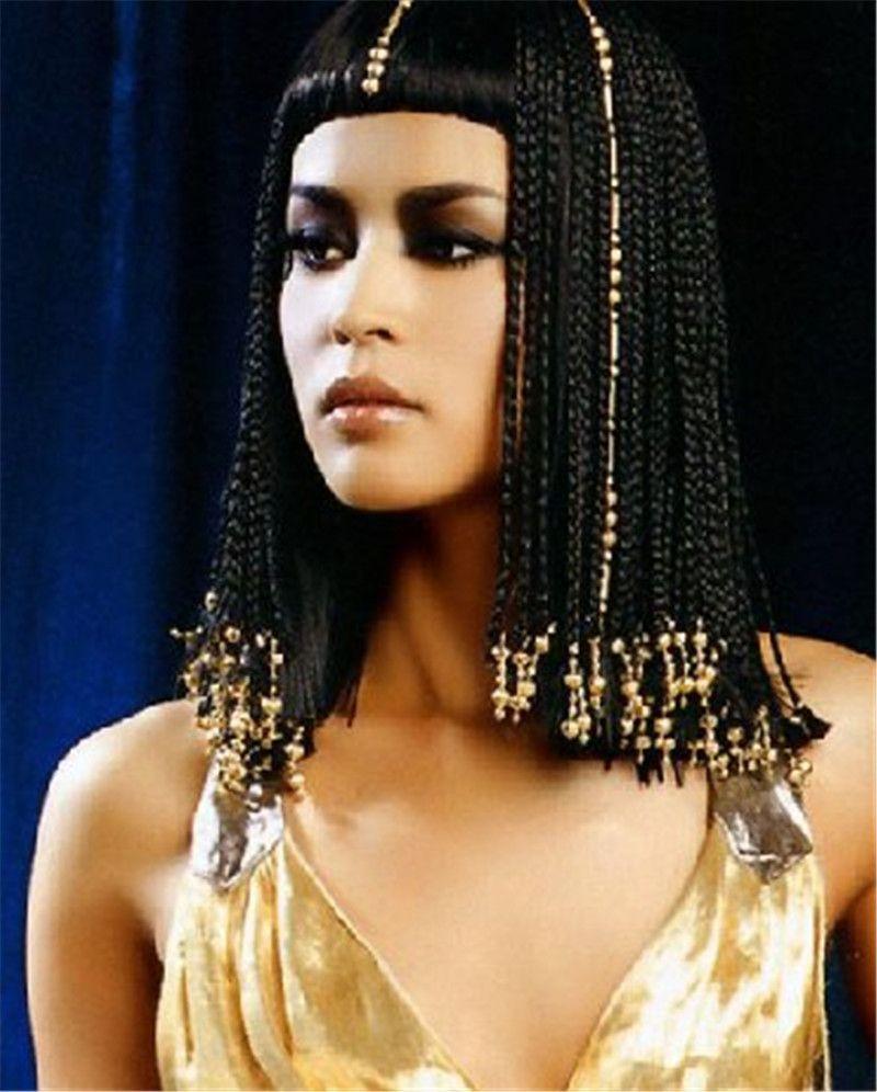 Cleopatra Hairstyle Braid Hair Wigs Egipetskij Makiyazh Dlinnye Kosy Kleopatra