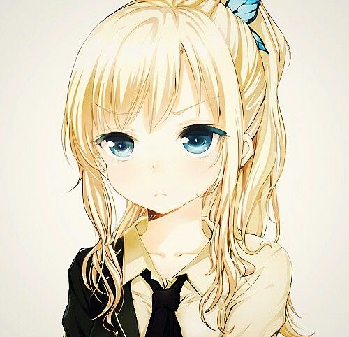 Anime girl blonde hair