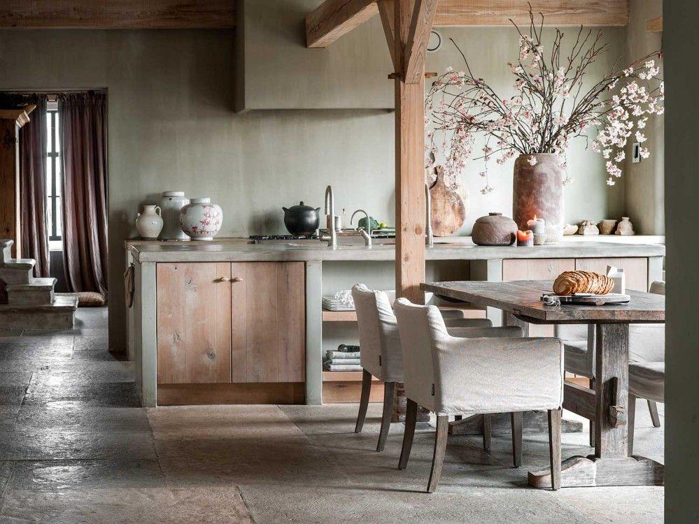 Landelijk Wonen Tijdschrift : Wonen in de krukhuisboerderij landelijk wonen magazine keuken