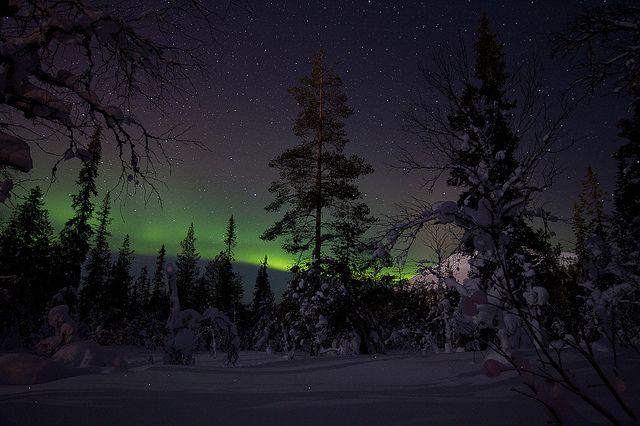 Aurora Borealis at Äkäslompolo (Lapland, Finland) by Mark Sekuur