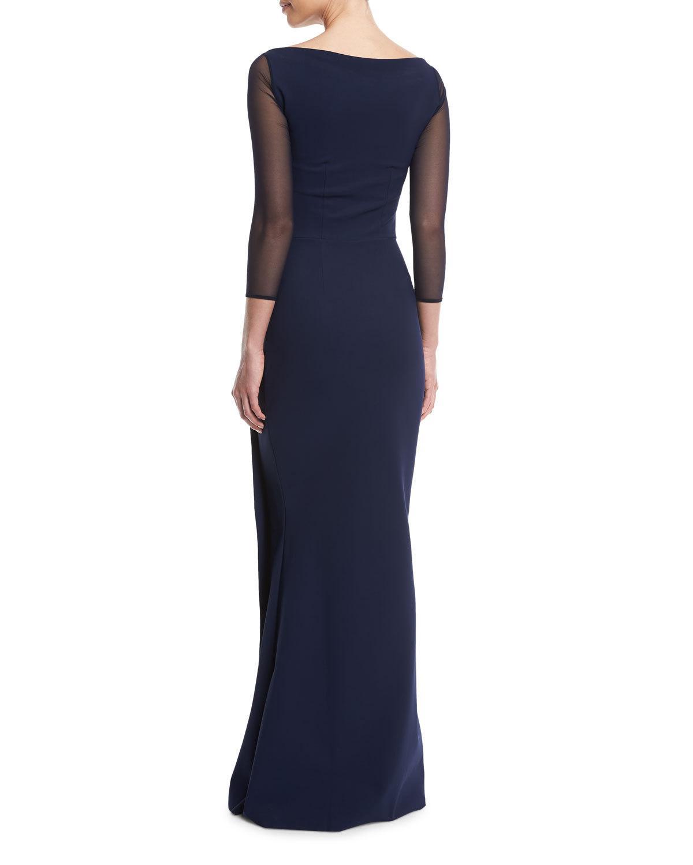 5da00439485 Chiara Boni La Petite Robe Kate Illusion Gown w  Front Cutout ...
