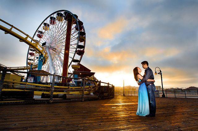 Inspiración: El Muelle de Santa Monica... luz y color.