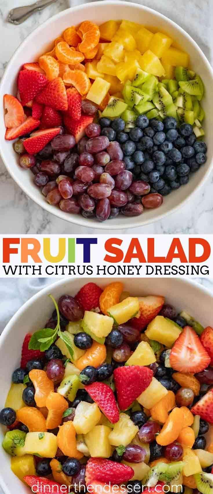 Easy Fruit Salad - Dinner, then Dessert