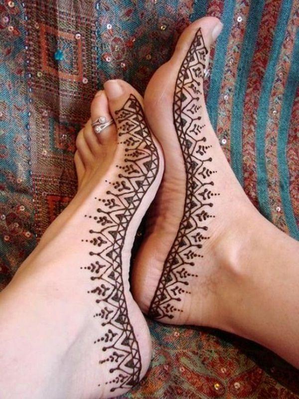 Foot Henna Tattoo Prices: 60 Idées Avec Le Henné Pour Créer De L'art