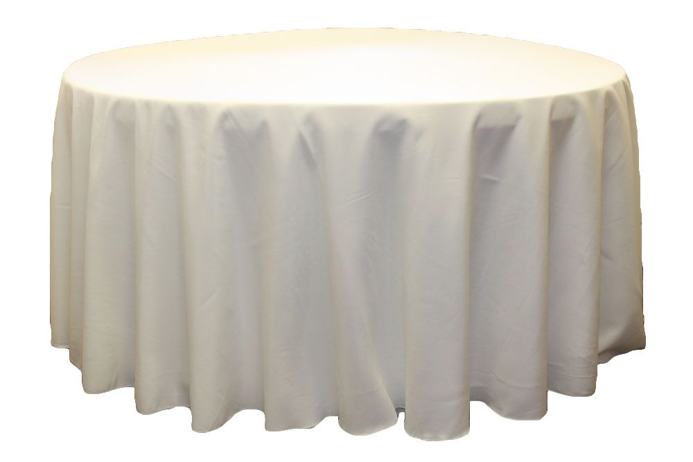Round Polyester 132 Tablecloth Light IvoryOff White 120 round