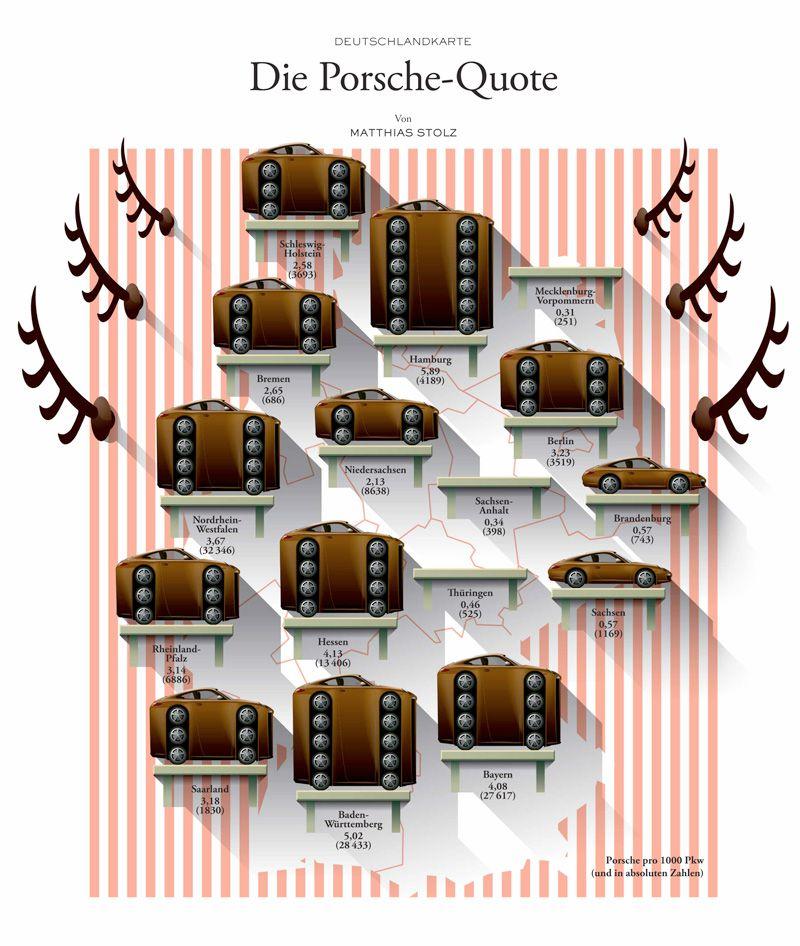 deutschlandkarte auto Deutschlandkarte: Die Porsche Quote | Porsche, Deutschlandkarte