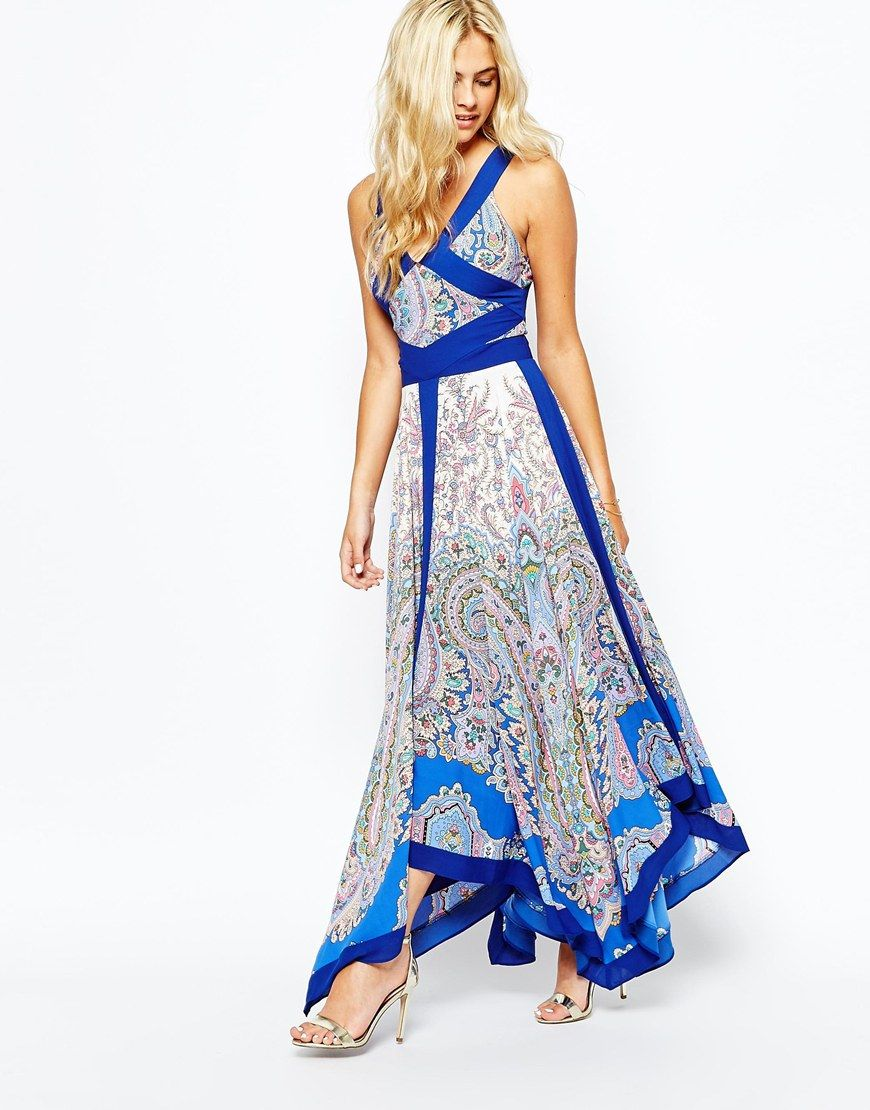 Oasis Paisley Hanky Hem Maxi Dress | 15.1 | Pinterest | Models ...