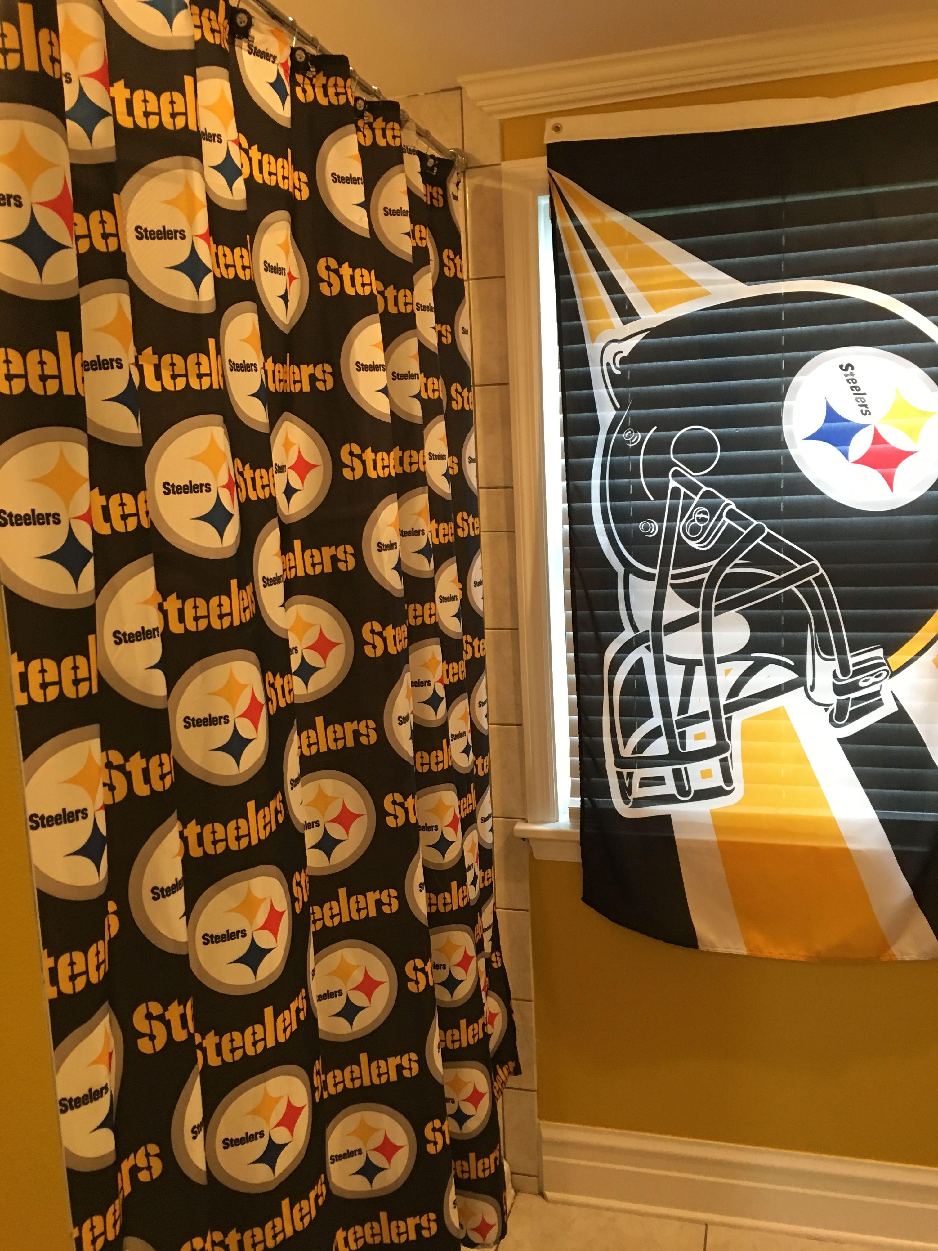 Steelers Bathroom Decor Steelers Printed Shower Curtain