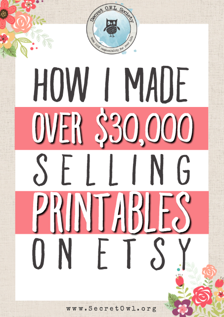photo about Etsy Printables named Its opportunity towards crank out a sturdy cash endorsing printables upon
