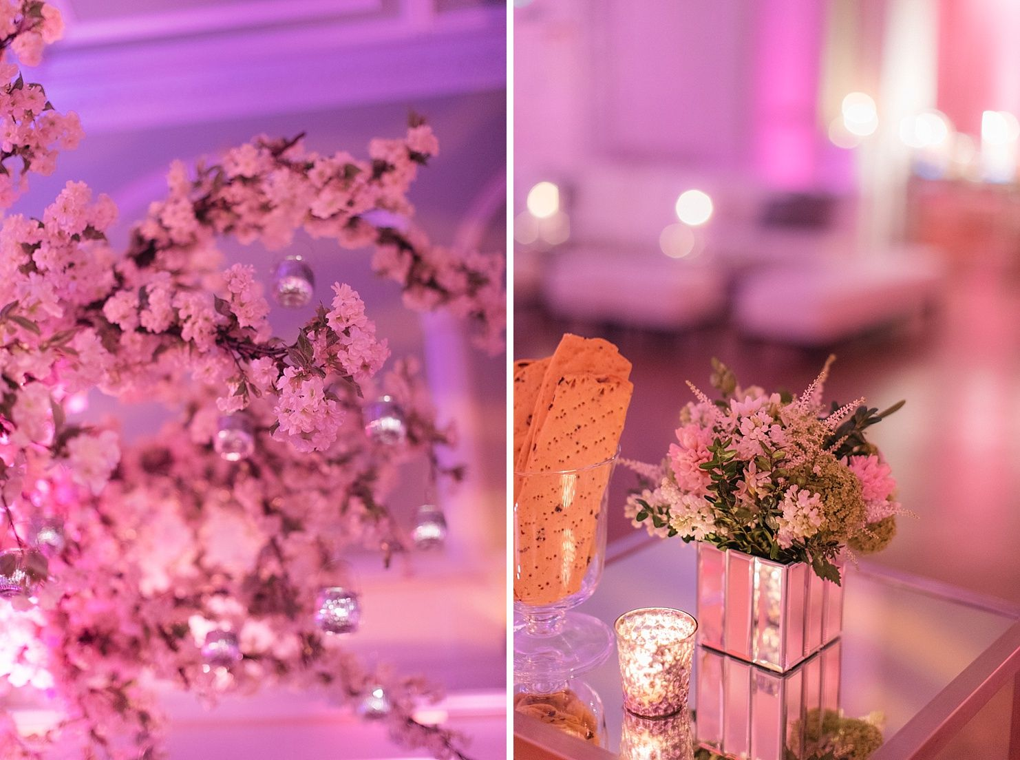 Pretty In Pink | Blossom | Table Centres | Mirrors | Candlelit | Glamour |  Birthday