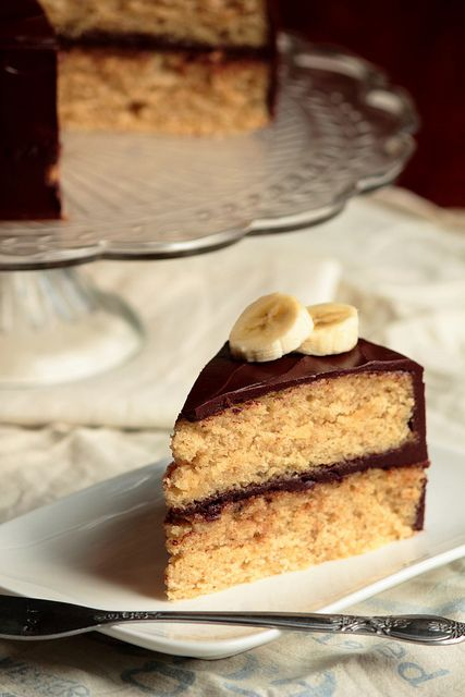 Banana Cake With Chocolate Glaze Receitas Sobremesas E Receitas