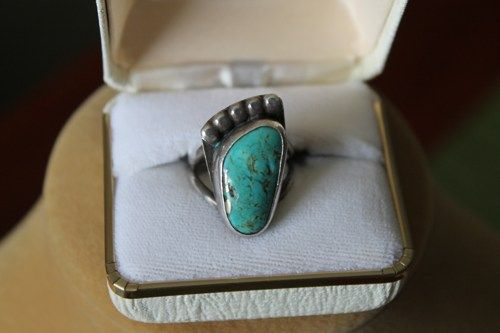 Turquoise has been prized as a gemstone thousands of years. King Tut's burial mask is inlaid with turquoise.  It has been used as both decorative as well as protective properties.  Because of it MOHS