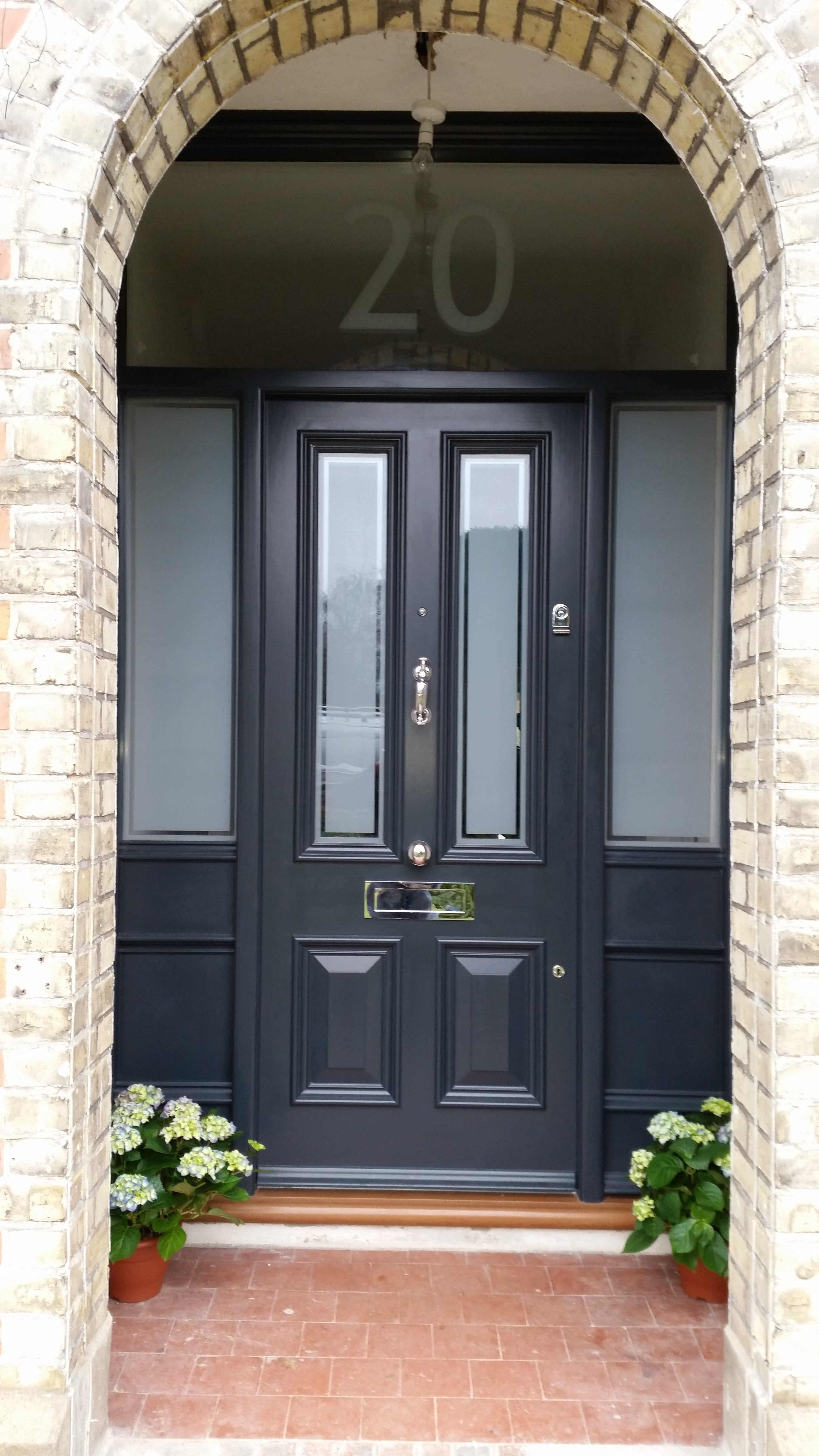Custom-built traditional timber front doors | Timbawood #victorianfrontdoors