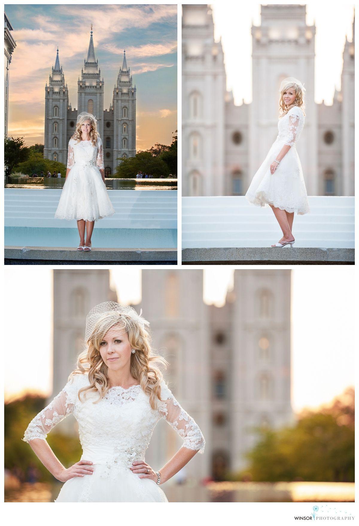 Wedding dress sleeves modest mormon lds temple lace wedding
