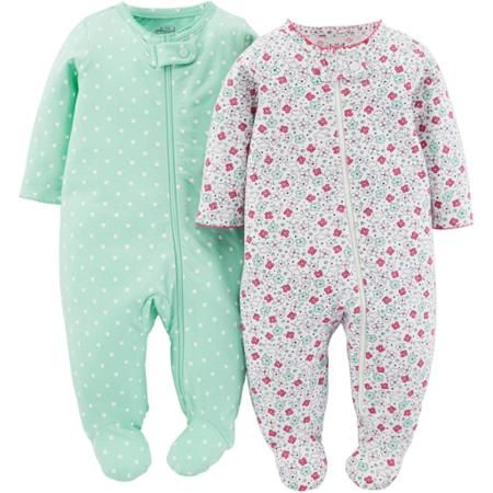 c0105d611 Child Of Mine Made By Carter's Newborn Baby Girl Sleep N Play, 2 Pack